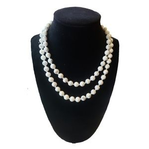 Polished Howlite Mala Necklace